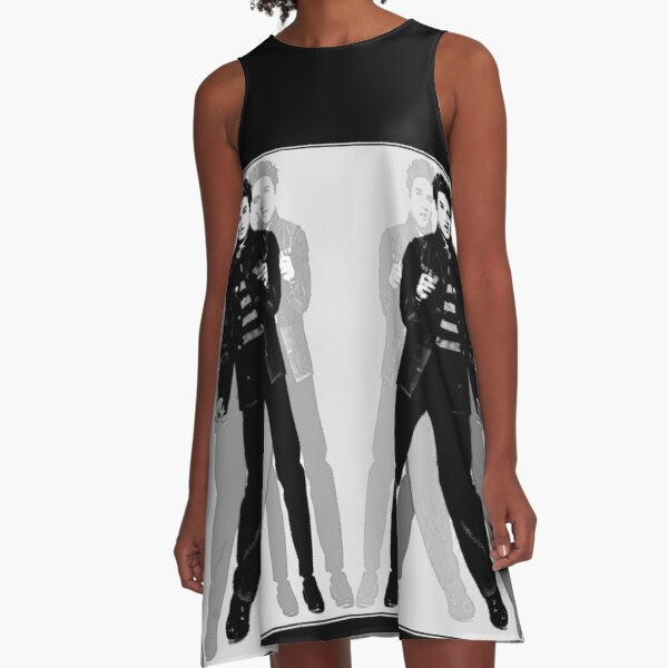 ELVIS COLLAGE PORTRAIT : Me and My Shadows Warhol Style Print A-Line Dress