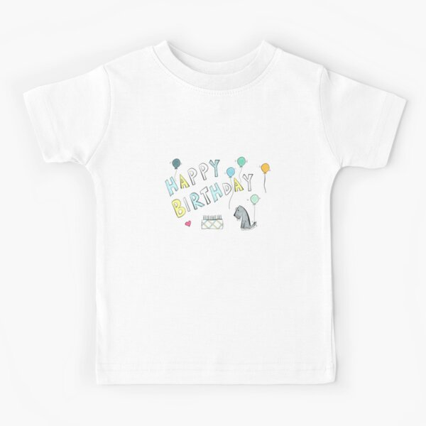 Jack - Happy Birthday - Tartan Cake Kids T-Shirt