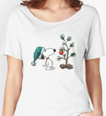 Christmas Snoopy Women's Relaxed Fit T-Shirt