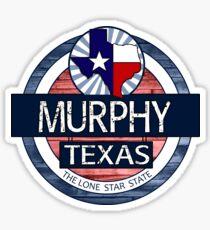 Murphy Texas rustic wood circle Sticker