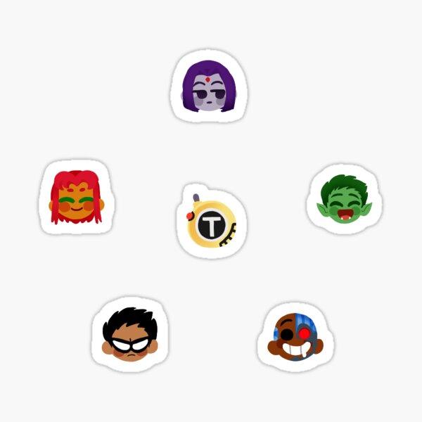 Teen Titans Emojis Pegatina