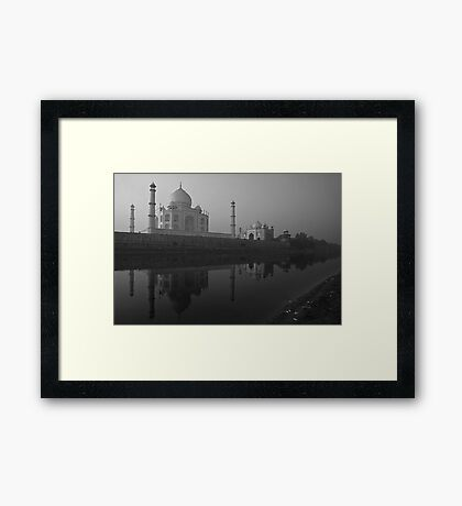 Moonlit Taj!!!! Framed Print