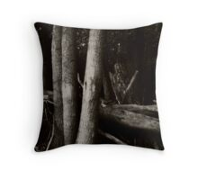 Trees on Grass Island  Throw Pillow