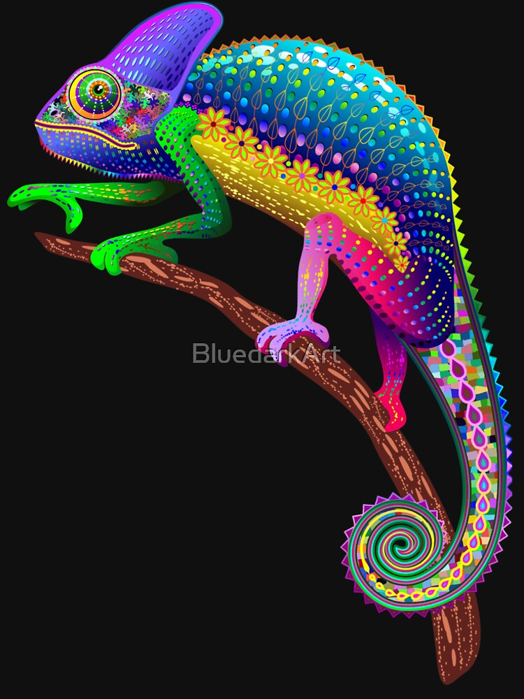 Chameleon Fantasy Rainbow Colors by BluedarkArt