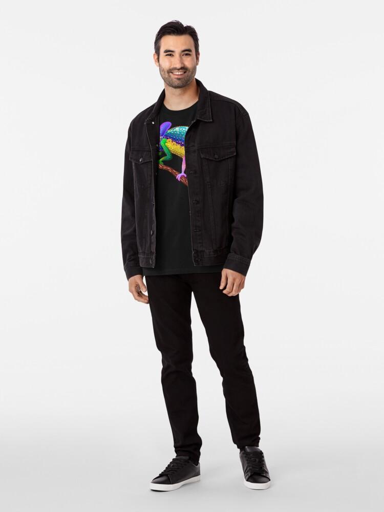Alternate view of Chameleon Fantasy Rainbow Colors Premium T-Shirt