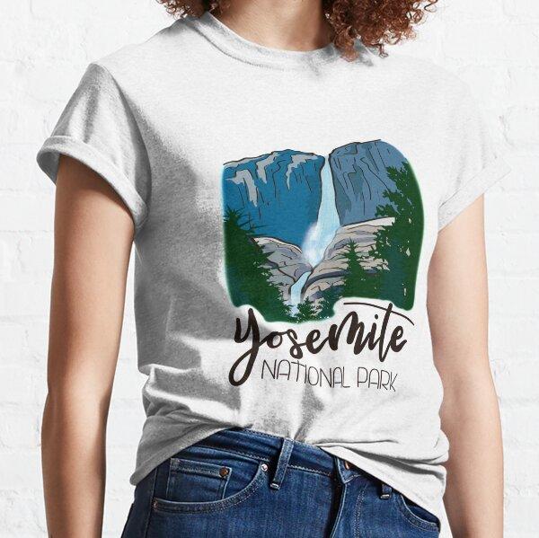 Yosemite National Park - Yosemite Falls Waterfall Mountain Valley Classic T-Shirt