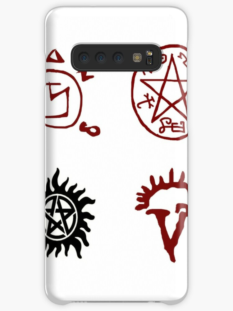 'SUPERNATURAL Sigils, Tattoo, Devils Trap, Protection Symbols, Dean  Winchester' Case/Skin for Samsung Galaxy by runlikeclockwor