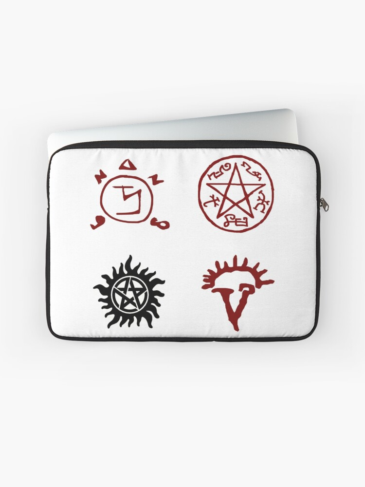 SUPERNATURAL Sigils, Tattoo, Devils Trap, Protection Symbols, Dean  Winchester   Laptop Sleeve