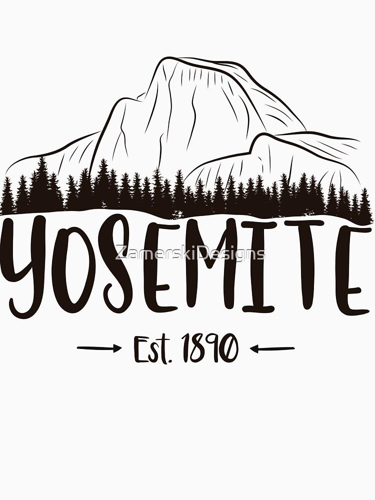 Yosemite Nationalpark Kalifornien - El Capitan Half Dome 1890 von ZamerskiDesigns