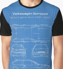VW Scirocco MK2 Blueprint Graphic T-Shirt