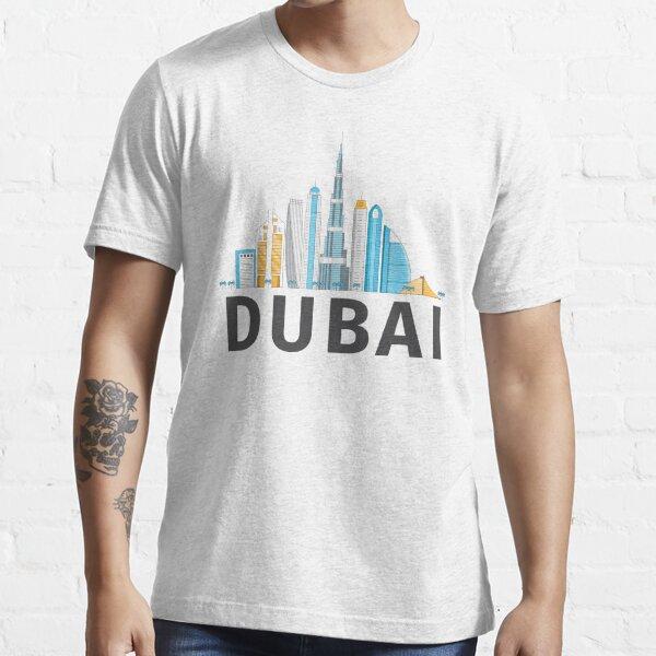 Dubai United Arab Emirates - Burj Khalifa Skyscraper City Skyline Essential T-Shirt