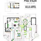 Floorplan of VILLA ARPEL from MON ONCLE by Iñaki Aliste Lizarralde