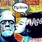 Frankenstein and Bride monster love by Edgot Emily Dimov-Gottshall