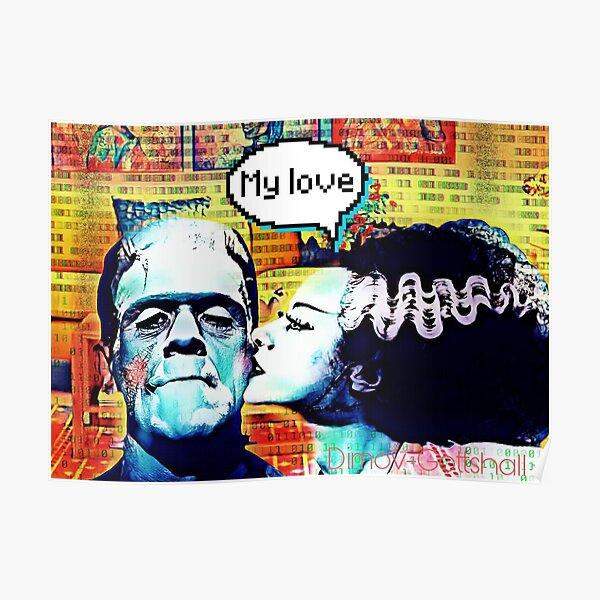 Frankenstein and Bride monster love Poster