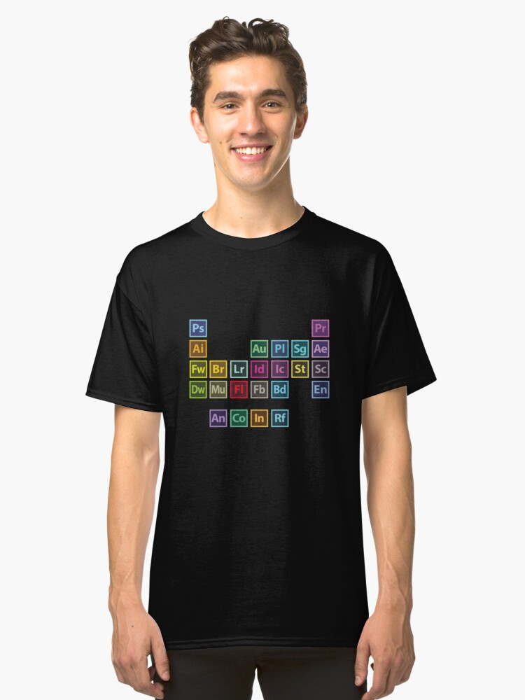Adobe table of elements unisex t shirt by 275m redbubble adobe table of elements classic t shirt urtaz Image collections
