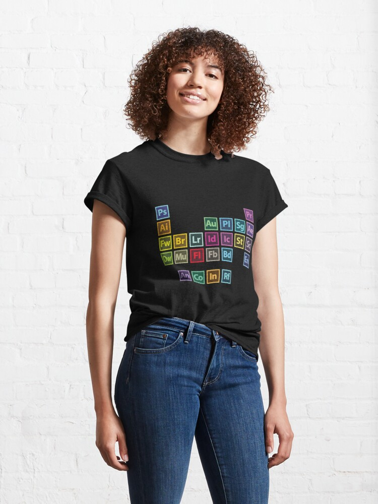 Alternate view of Adobe Table of Elements Classic T-Shirt