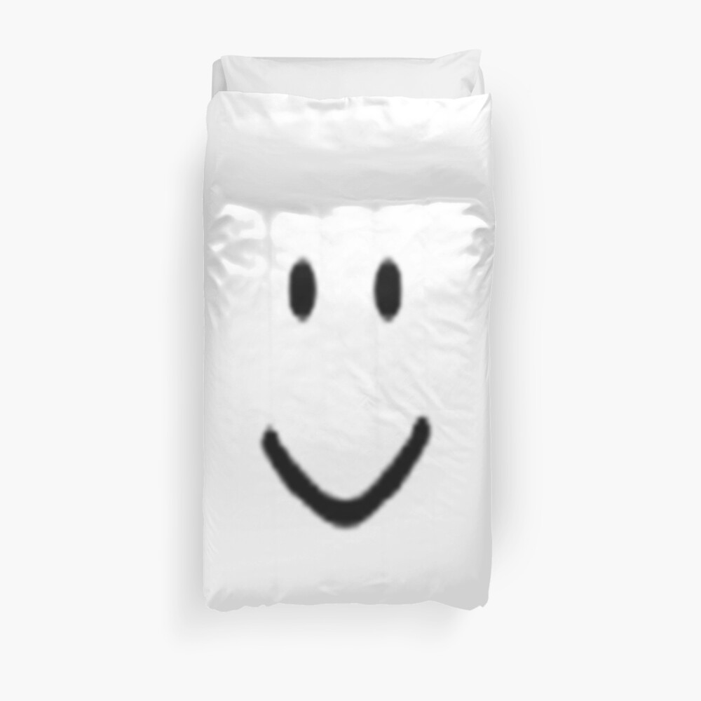 Roblox Default Noob Face Duvet Cover By Trainticket Redbubble