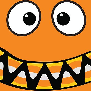 Monster Face - Funny Halloween T-Shirt and More! by RLVantagePoint