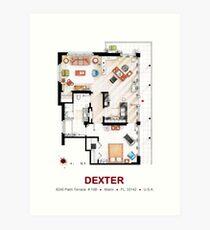 Floorplan of the apartment from DEXTER - V.1 Art Print