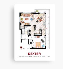 Floorplan of the apartment from DEXTER - V.1 Canvas Print