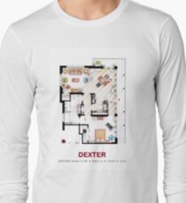 Floorplan of the apartment from DEXTER - V.1 Long Sleeve T-Shirt