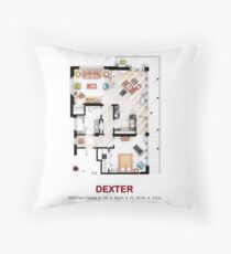 Floorplan of the apartment from DEXTER - v.2 Throw Pillow