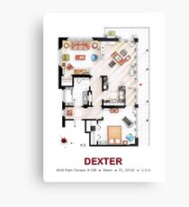 Floorplan of the apartment from DEXTER - v.2 Metal Print