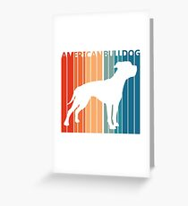 Vintage Retro American Bulldog Greeting Card