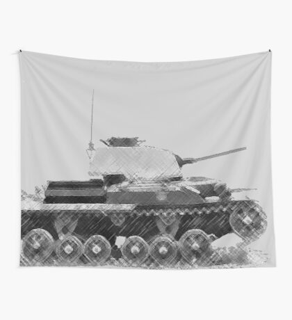 a cool tank Wall Tapestry