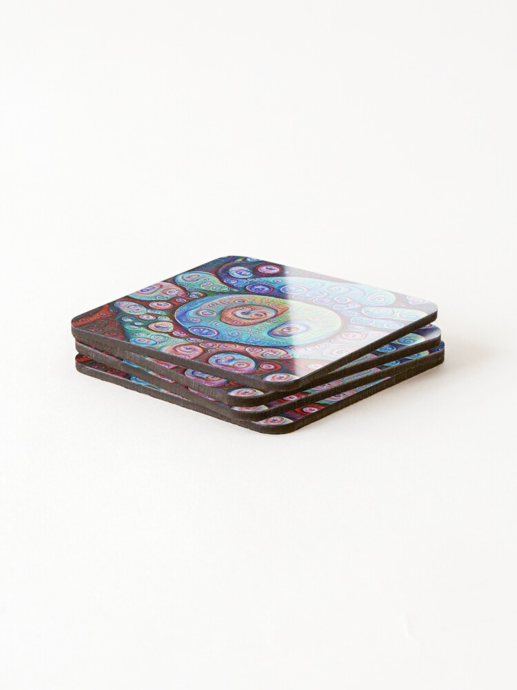 Alternate view of #DeepDream Ice Coasters (Set of 4)