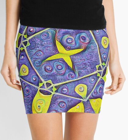 #DeepDream Kiwi 5x5K v1455289624 Mini Skirt