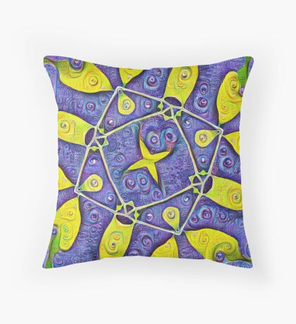 #DeepDream Kiwi 5x5K v1455289624 Throw Pillow