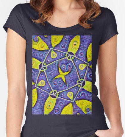 #DeepDream Kiwi 5x5K v1455289624 Women's Fitted Scoop T-Shirt