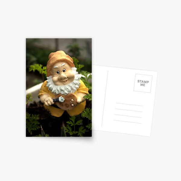 Painty the Garden Gnome Postcard
