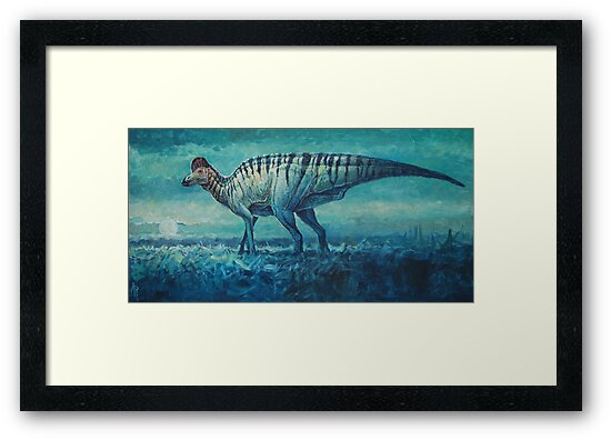 Prairie Moon - Corythosaurus by Angie Rodrigues
