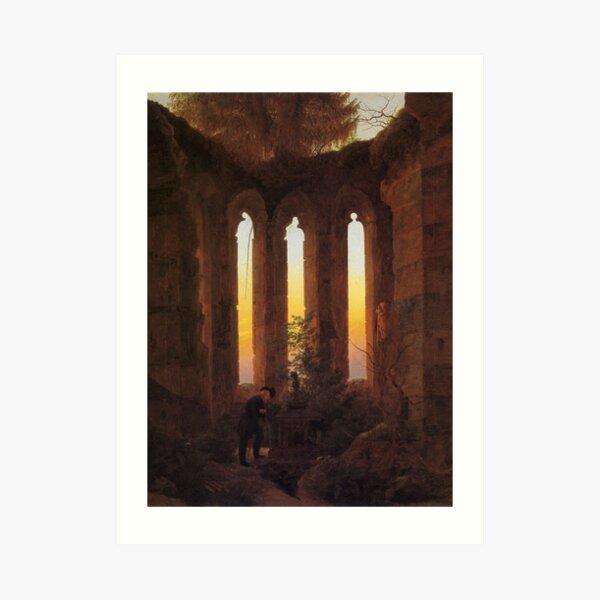 Abendliche Ruinen (Caspar David Friedrich) Kunstdruck