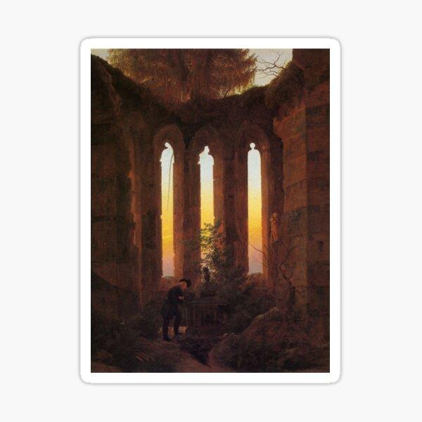 Abendliche Ruinen (Caspar David Friedrich) Sticker