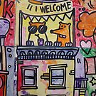 graffiti, stamp, art, wall, urban, street, city, paint, postage, aged, colorful by znamenski