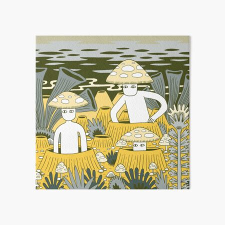Mushroom Men Art Board Print