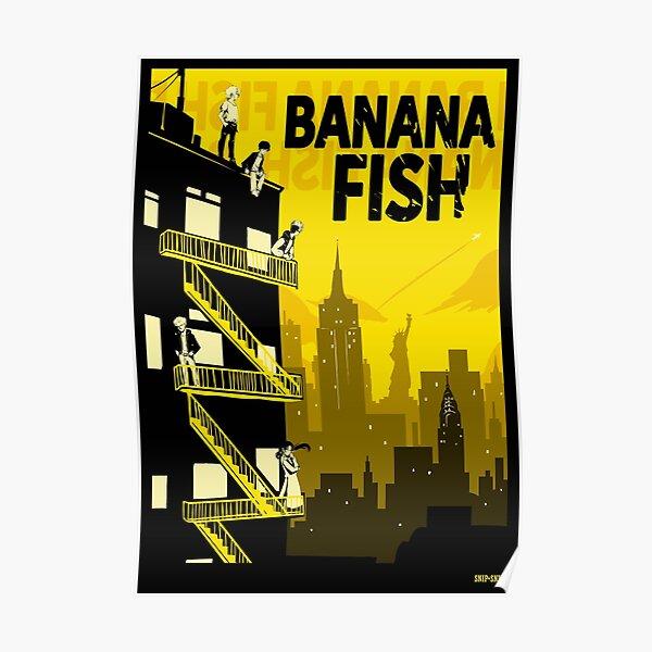 Pescado de plátano Póster