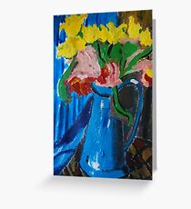 pitcher bouquet Greeting Card