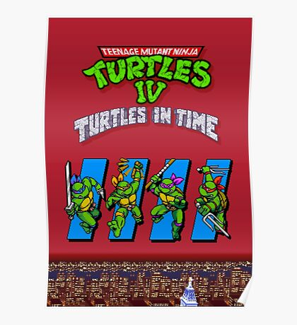 TMNT Turtles in Time Poster