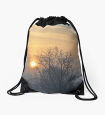 Winter morn. Drawstring Bag