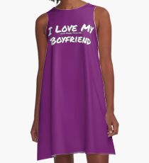 I Love My 'Dogs More Than My' Boyfriend A-Line Dress