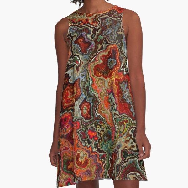 Blood Geode A-Line Dress
