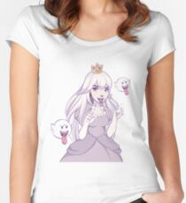 King Boo Peach Women's Fitted Scoop T-Shirt