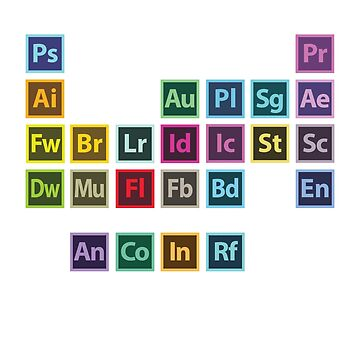 Adobe Table of Elements (Sticker) by 275M