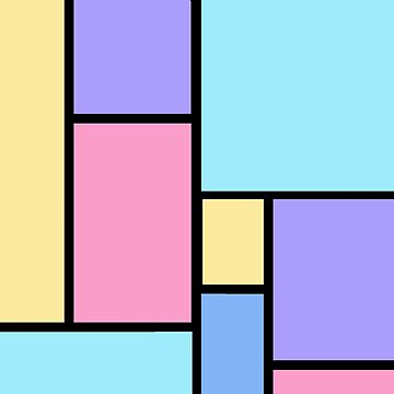 Pop Art Color Block Pastel by Greenbaby