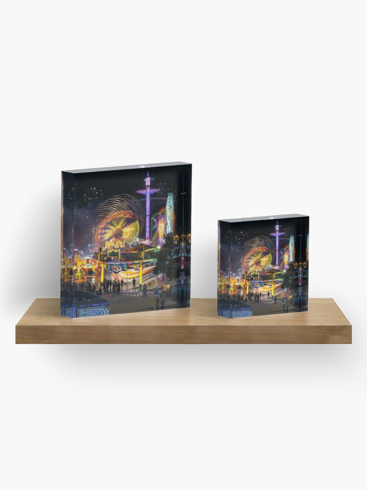 Alternate view of Fairground Attraction (diptych - left side) Acrylic Block