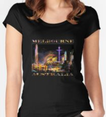 Fairground Attraction (diptych - left side) Women's Fitted Scoop T-Shirt